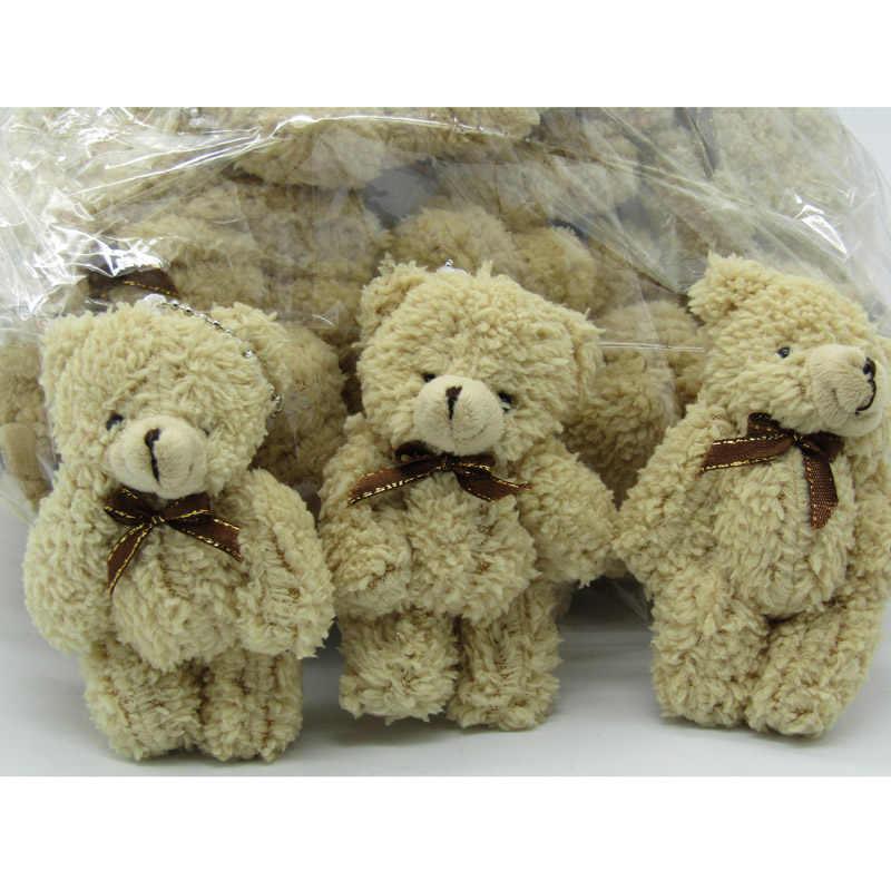 40 pçs/lote Kawaii Pequeno Cadeia Joint Teddy Bears Stuffed Plush Whit 12 CENTÍMETROS de Mini Urso de Brinquedo de Pelúcia-Urso Ted 019 Ursos de Casamento Brinquedos de Pelúcia