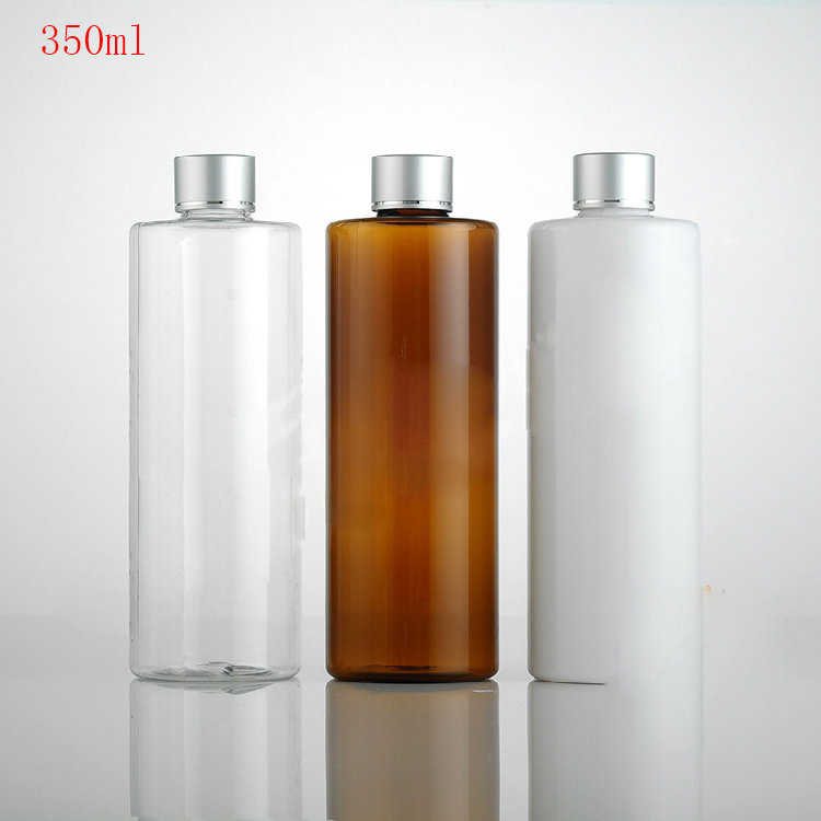350ml 20pcs white brown transparentEmpty Plastic Bottle Cosmetic For The Make Up Water Shampoo Shower Gel