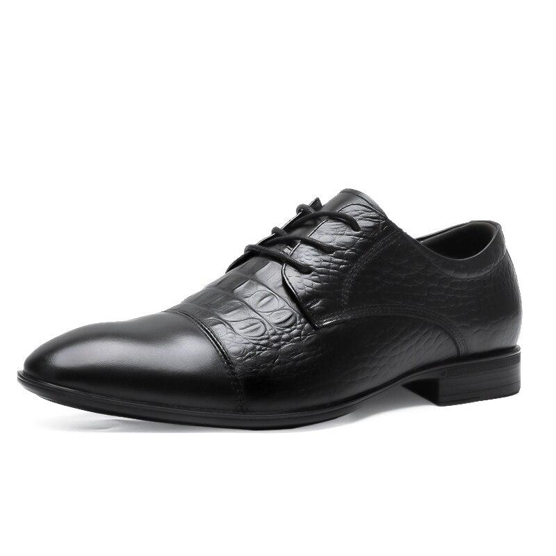 Tallas grandes 48 zapatos de hombre de marca de cuero Casual de moda negro azul marrón zapatos planos para hombres zapatos de negocios de envío directo * 6628 - 5
