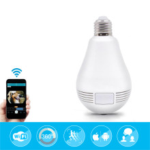 1080P Wireless IP Camera Wifi Fish Eye 360 degree Bulb Mini CCTV Camera Home Security Panoramic Cam Baby Monitor(China)