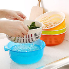 2PCS/Set New Cleaning Drainage Basket Double Layer Multifunctional Plastic Practical Kitchen Household Tools Caddies