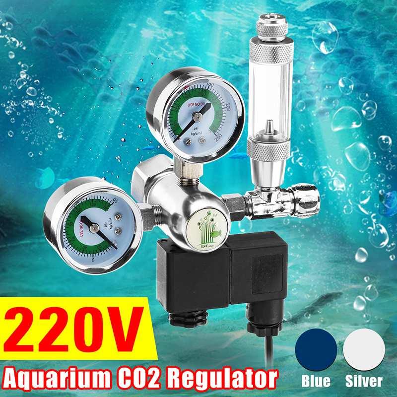 Utilitaire Aquarium CO2 régulateur G5/8 220 V magnétique solénoïde clapet anti-retour Aquarium bulle compteur poisson réservoir outil CO2 contrôle