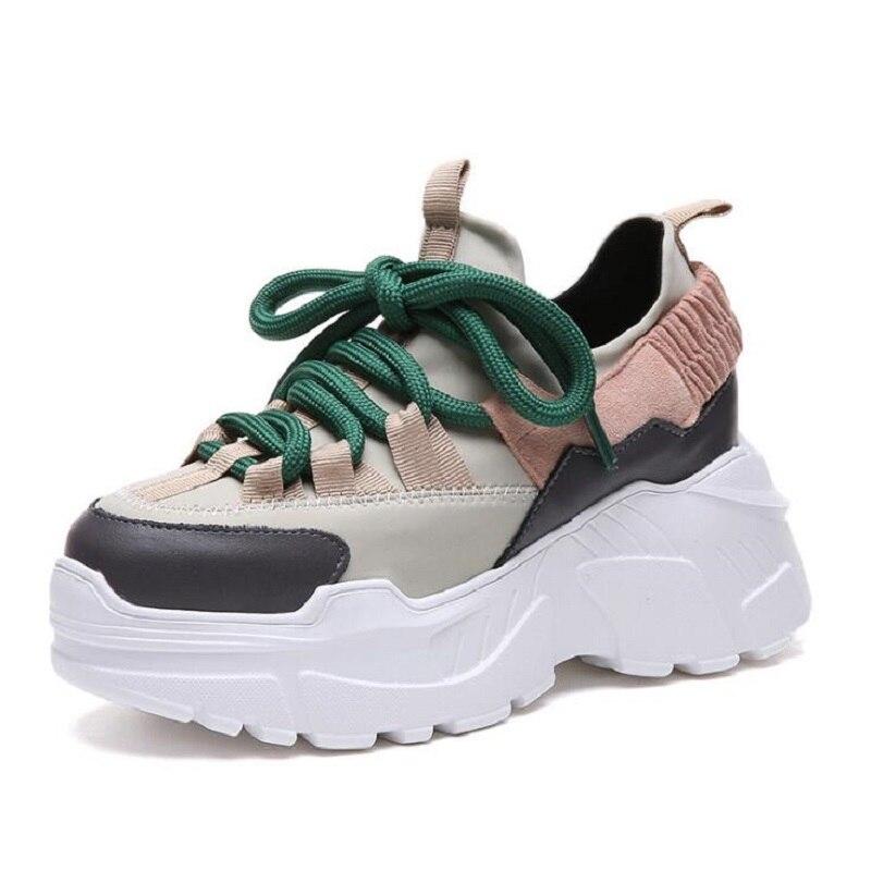 все цены на 2018 Spring Autumn Women Casual Shoes Comfortable Platform Shoes Woman Sneakers Ladies Trainers chaussure femme