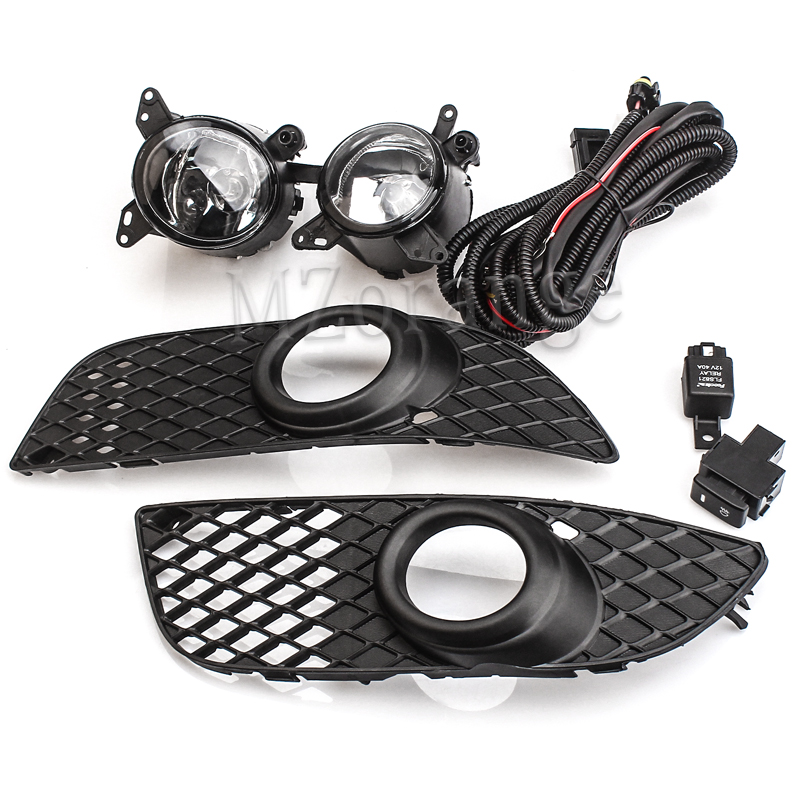 1 pair fog lights 2pcs Bumper Grille fog Lamps with Wiring Switch Kit for Mitsubishi Lancer