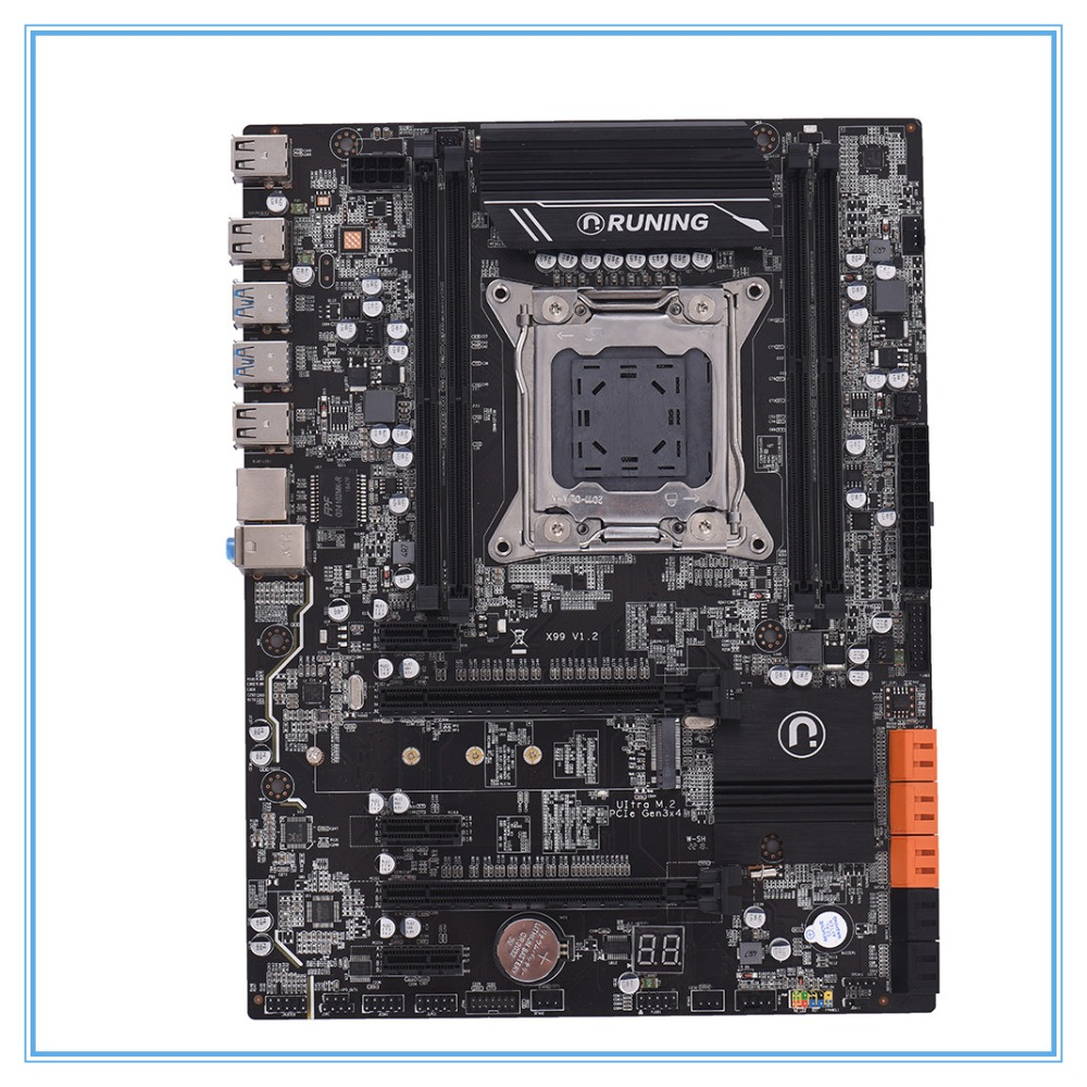 New desktop motherboard <font><b>X99</b></font> V1.2 DDR4 ATX LGA2011 cpmputer mainboard DIMM Slots SATA 3.0 and USB 3.0 image