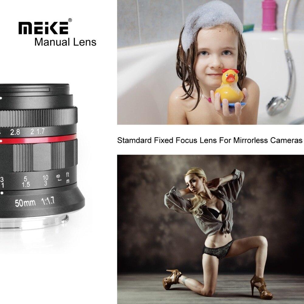 Objectif de mise au point manuelle à grande ouverture Meike MK 50mm f/1.7 pour appareils photo sans miroir à monture RF Canon EOS R avec cadre complet - 5