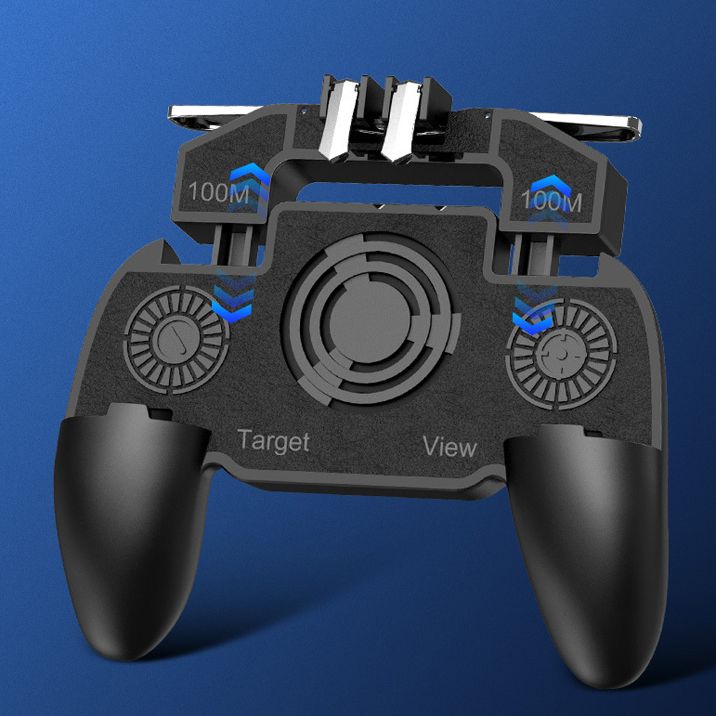 Game Controller Mobile Game Controller 4in1 Gamepad Shoot And Aim Trigger Phone Cooling Gamer Gaming Gamepad Player For PUBG