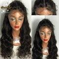 8А virgin необработанные перуанский полный парик шнурка с волосами младенца glueless глубоко объемная волна полный парик шнурка и парик фронта шнурка для чернокожих женщин