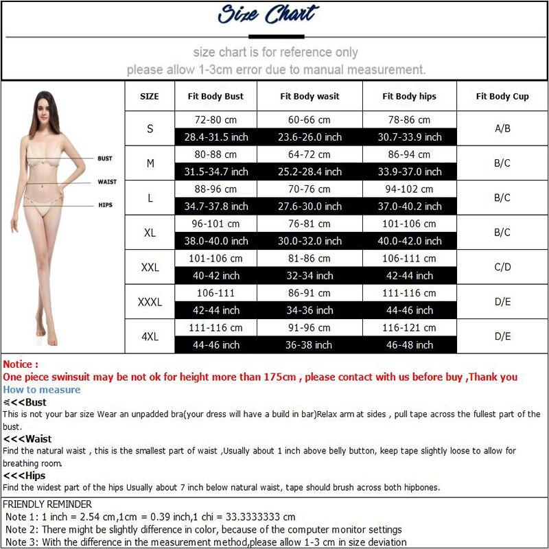 2018 Plus Storlek Kvinnor Bikini Sexig Tryck Push Up Bikinis Svart - Sportkläder och accessoarer - Foto 6