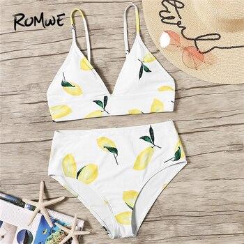 0cb259e52d53 Romwe Sport Multicolor a rayas nudo frontal corte traje de baño mujeres  verano playa Sexy sin hilos ...