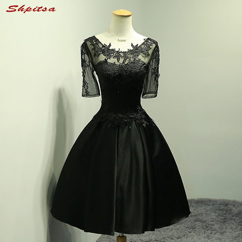 Short Lace   Cocktail     Dresses   Women for Graduation Little Black   Dress   Prom Party Coctail   Dress   vestido de festa curto coctel