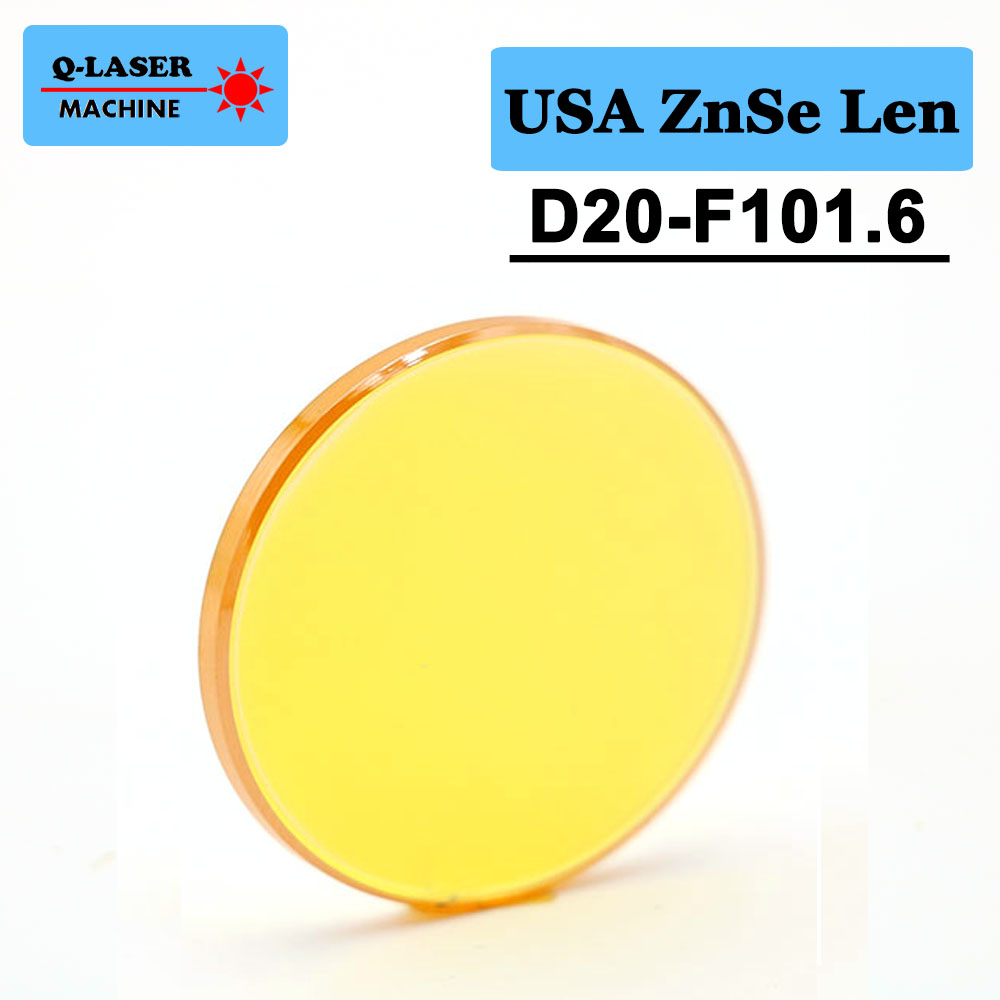 USA CVD ZnSe Co2 Laser Focus Lens 20mm Diameter FL101.6mm 4inches For CO2 Laser Engraving And Cutting Machine free shipping usa znse co2 laser focus lens diameter 20mm focal length 101 6mm for co2 laser cutting and engraving machine