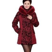 2017 New Arrival Plus Size winter jacket women fashion Warm cotton jacket Slim fur collar hooded winter coat women parka 3L60