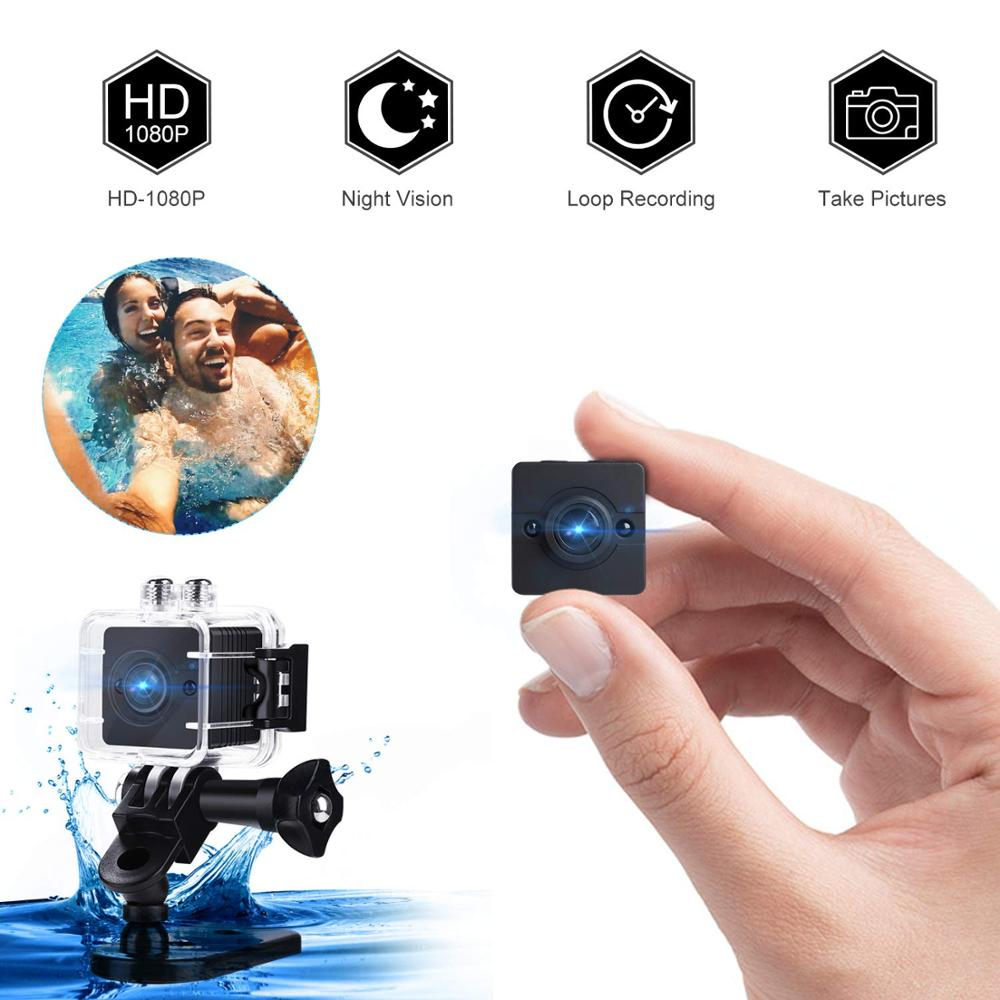 Mini Camera, Waterproof Portable Camera, 1080P HD Nanny Cam - Security Camera For Home/ Surfing/ Snorkeling/ Biking/ Camping