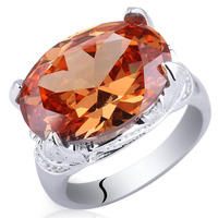 Beautiful Women Genuine Sterling 925 Silver Ring Oval Big 12x16mm Cubic Zirconia Jewelry Support Customization R023