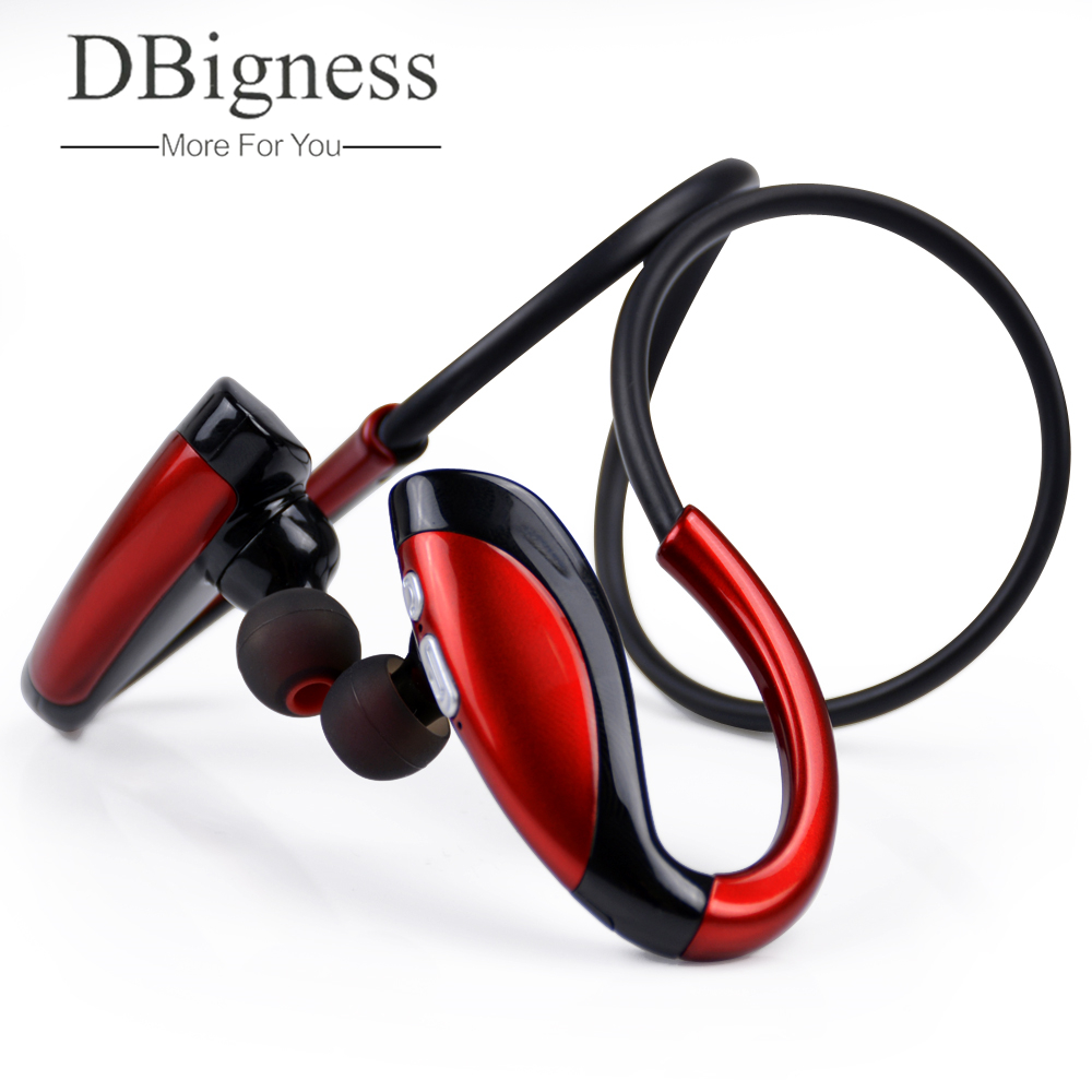 Dbigness Bluetooth Headset Wireless Sport Bluetooth Earphone with Mic Earbuds Music Earbud Wireless Earphone for Xiaomi iphone lymoc v8s business bluetooth headset wireless earphone car bluetooth v4 1 phone handsfree mic music for iphone xiaomi samsung