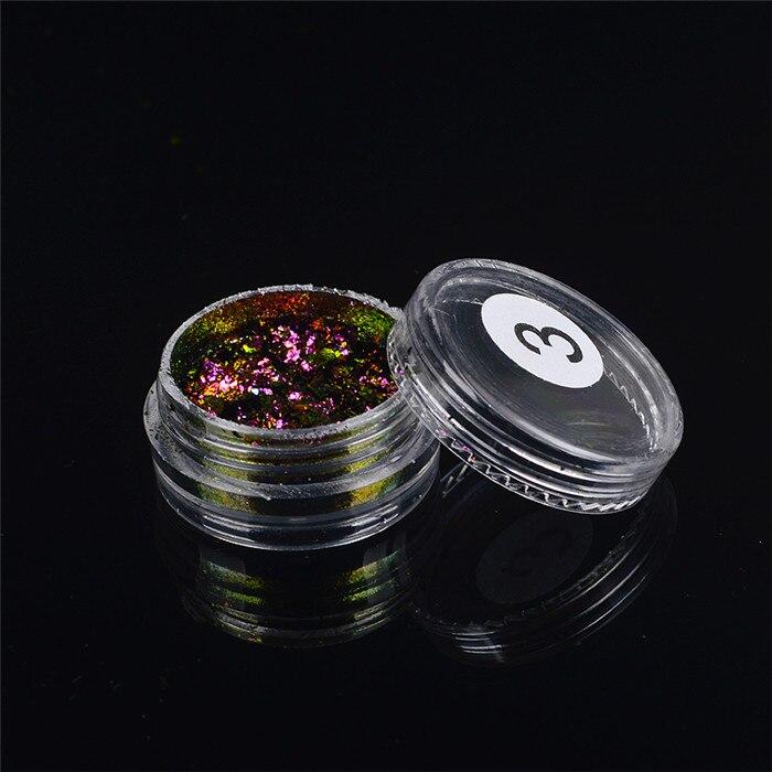 ZKO,, 1 коробка, хамелеон, блестки для ногтей, голографическая пудра, пыль, ослепительные ногти, дизайн ногтей, блестящие украшения - Цвет: 03