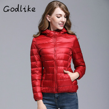 GODLIKE  2017pure color ladies trendy winter coat/fashionable casual down jacket/Pure color, lightweight down jacket 1