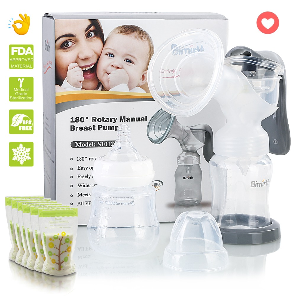 180 Grad Rotary Brust Pumpen Manuelle Brust Pumpe Nippel Saug Brust Baby Fütterung Pumpe Leistungsstarke Milch Sauger üPpiges Design