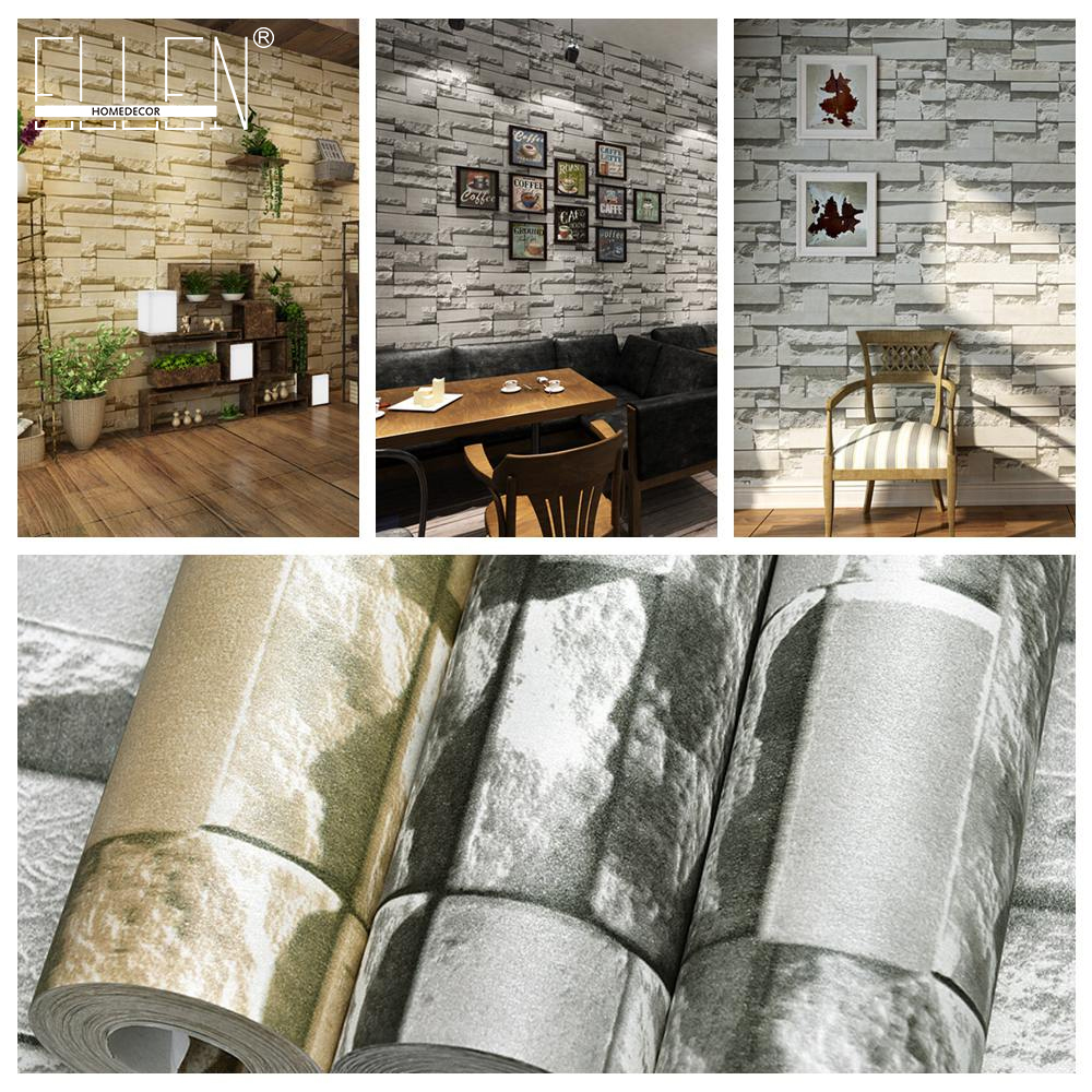 3D wallpaper brick murals wallpapers for walls TV background living room modern non woven living room tv background wallpaper modern black and white flowers 3d home furnishings pure color non woven wallpaper n4