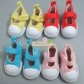 Бесплатная доставка Разных Цветов 5 см Холст Обувь Для 1/6 BJD Куклы мода Мини Игрушки, Обувь Bjd Обувь для Российских Тильда Кукла обувь