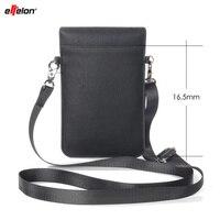 Effelon Pu-leder Handytasche Tasche Schulter Tasche Wallet Pouch Case Umhängeband Für OPPO/Samsung/iPhone/Huawei Handy