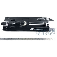 E32 KIT Cheetah / Germany Cat Fiber Glass Electric Racing Speed Boat Hull Only for Advanced Player Black TH02634