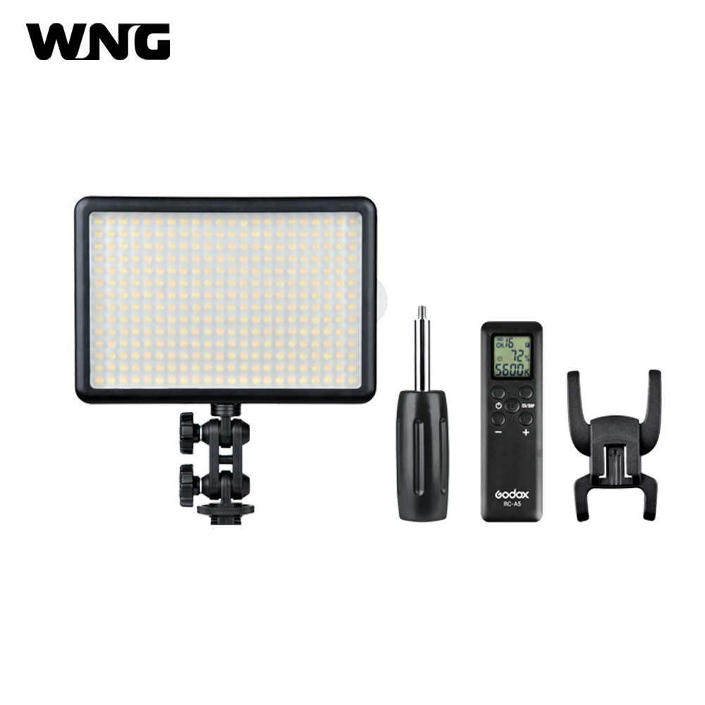 LED308 LED Video Light 5600K ON Camera Light with Wireless Remote Control+Light Handle for Canon Nikon Sony Camera Camcorder