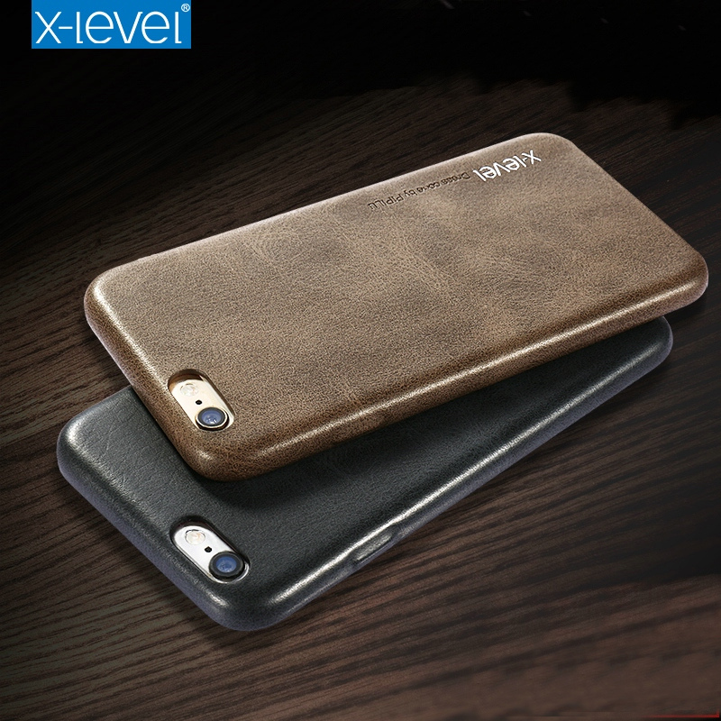 X Level For Apple IPhone 6 Case Retro Luxury PU Leather Back Cover Slim Fundas For