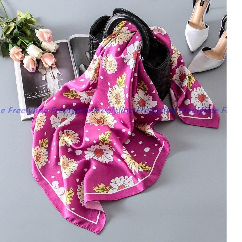 Charmingl Printed 100 Silk Scarf Women Bandana Hijab Square Silk Twill Scarf 90 Ladies Silk Scarves