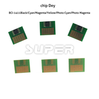 Chips chips de tinta para Canon BCI-1411 corante compatível para Canon W7200 tinta corante impressora jato de tinta 6 pcs C / Y / M / K / LC / LM