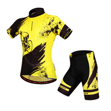 WOSAWE Brand New Cool Cycling Jersey Set Short Sleeve Sportwear Polyester Summer Bike Clothing
