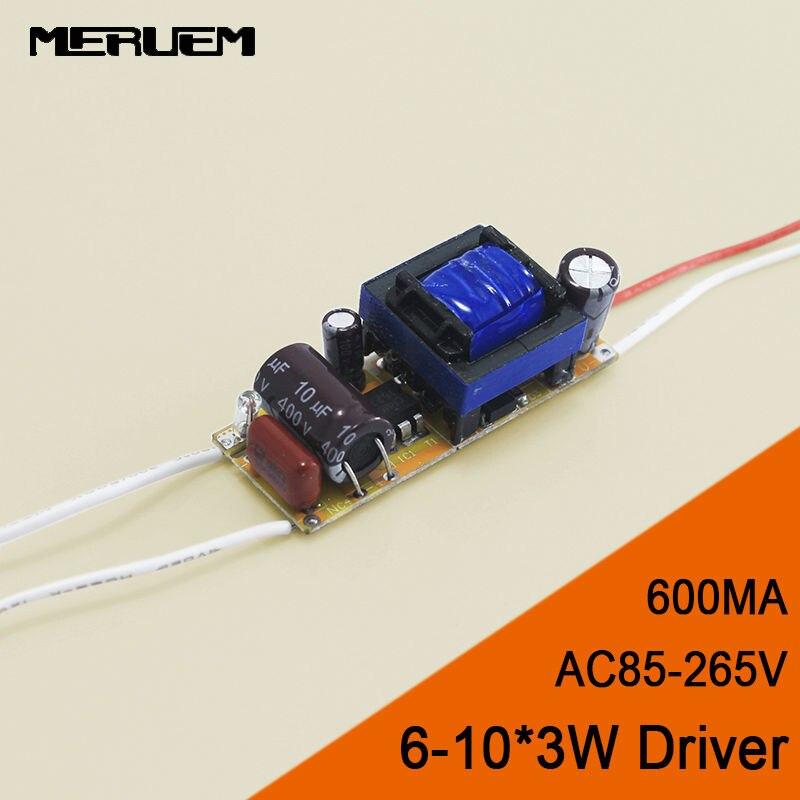 Free shipping 6 10 3W Led Driver 18W 21W 24W 27W 30W Lamp Driver Power Supply