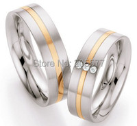 Uk Style 18k Rose Gold Plating Engagement Rings Wedding Bands Rings Jewelry Love Rings Sets For