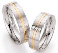 Британский стиль розовое золото Покрытие обручальные кольца ювелирные кольца для влюбленных наборы для пар 2014