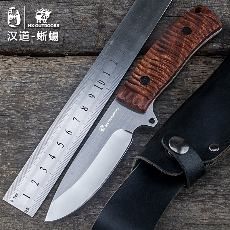 HX outdoor brand fixed blade straight knife rosewood knife handle 3Cr13Mov blade knife camping hand tool survival hunting knives damascus steel blade horn handle camping knife portable survival hunting knives fixed blade straight knife