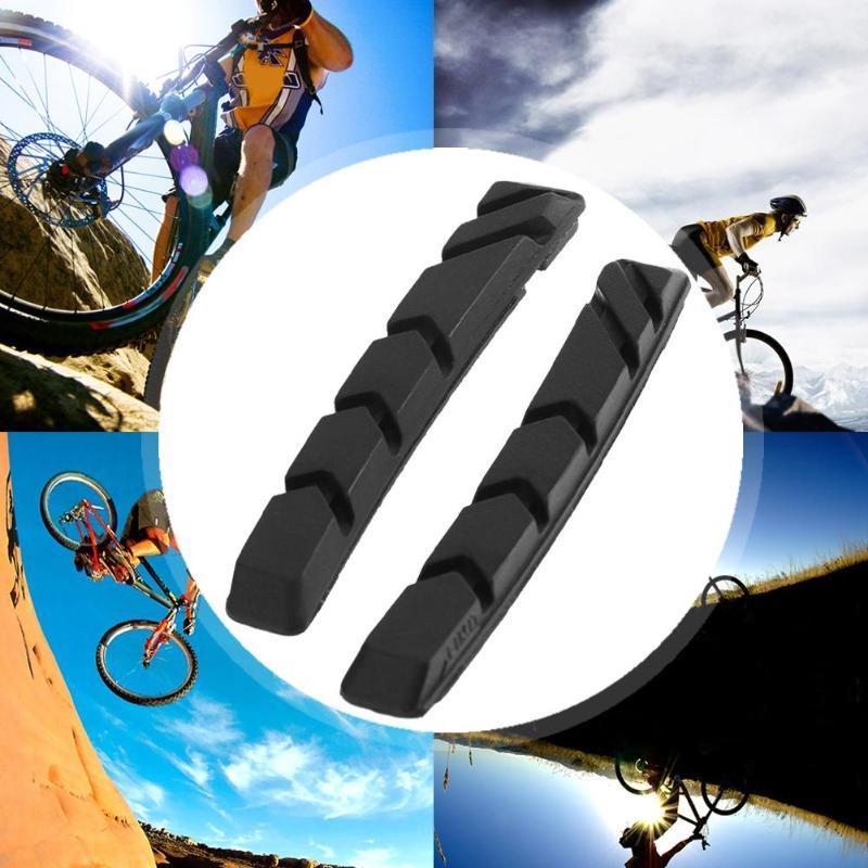 MTB Rubber Blocks Pair Road Shoes Pads Braking Brake Bike V-Brake Bicycle
