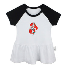 Cute The Little Mermaid Princess Ariel Tattoo Rebel Tattoo Design Newborn Baby Girls Dresses Toddler Infant Cotton Clothes(China)