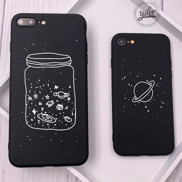 outlet store 0f4be 9199c US $1.98 |Fashion Wish Bottle Planet Moon For Funda iPhone XS Max Case 6 7  8 Plus X Starry Sky For iPhone XR Cases for iPhone SE 7 8 Cover-in ...
