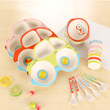 Baby Dishes Bamboo Tableware Set Of Children's Dishes Bamboo Plate Bowl Children's Plate Child Dish Baby Food Baby Feeding цена 2017