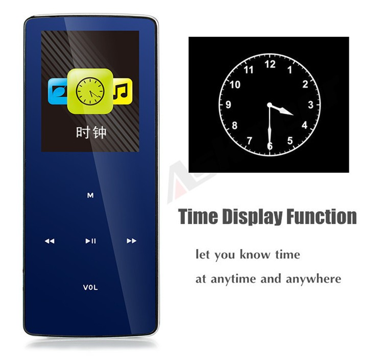 ONN W6 Rechargeable 8GB Bluetooth MP3 Player Mini Sport Mp3 HIFI Lossless Music Media Audio Player with 1.8 TFT Screen Fm Radio (2)
