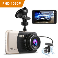 4'' inch Dual Lens Dash Camera Full HD 1080P Car DVR Video Recorder Night Vision Car Camcorder DVRs Dash Cam Intelligent System
