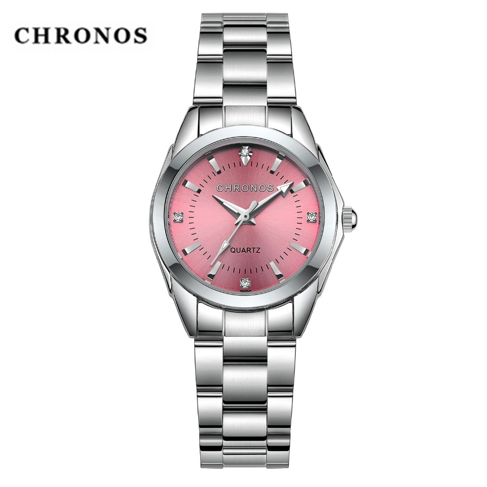 2019 CHRONOS Women Watches Leisure Top Luxury Brand Quartz Clock Multicolor Optional Fashion Business Wristwatch Ladies Watch
