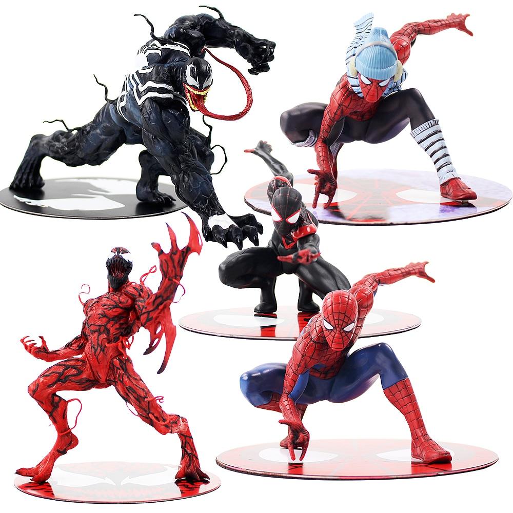 ARTFX Film The Amazing Venom SpiderMan Miles Morales Carnage Figure Venom ARTFX 1/10 Bilancia Action Figure Giocattolo del PVC