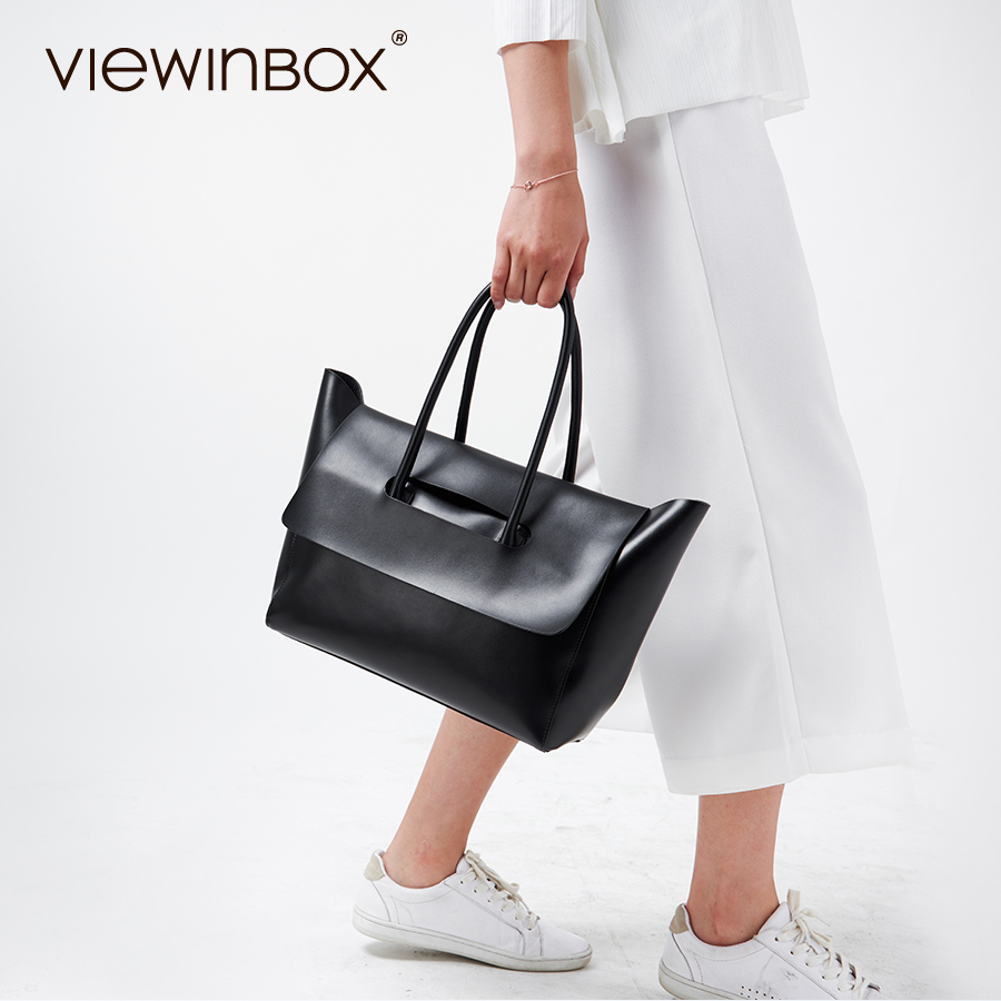 Viewinbox Handbag Women Famous Big Tote Bags Split Cowhide Leather Women Big Capacity Handbags Bolsas De