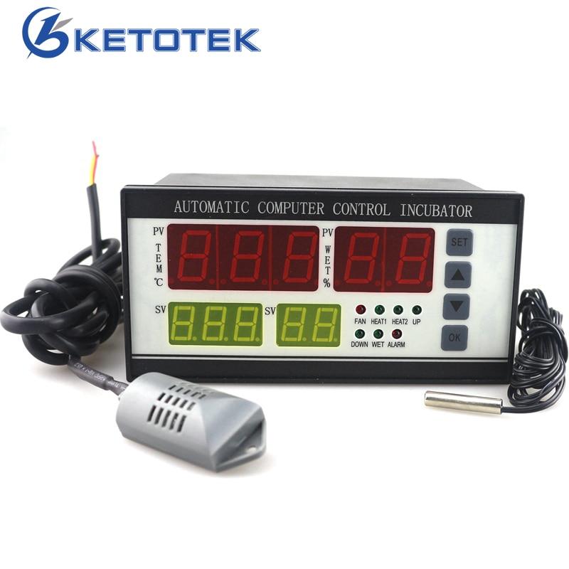 купить XM-18 Digital Temperature and Humidity Controller Thermostat Hygrostat Meter 110V 220V Automatic Sensor Probe for Egg Incubator по цене 2357.47 рублей