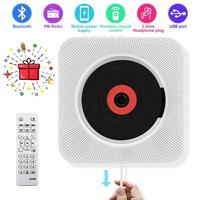 Eastpin CD Player with Bluetooth Wall Mounted CD Player Remote Control FM Radio HiFi Speaker Support USB Earphone Phone Charging