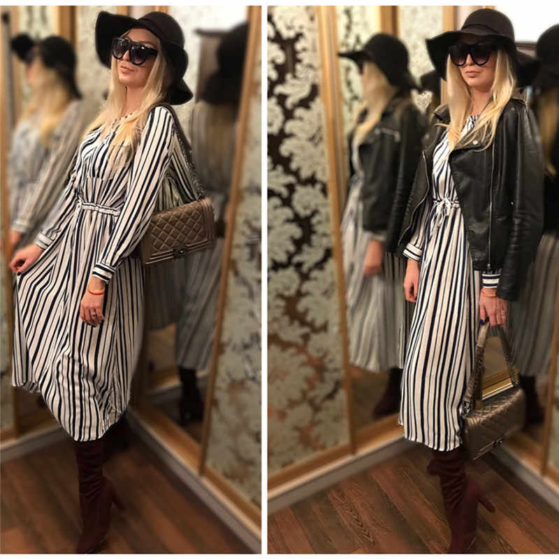 bd27465653 ... Elegant Stiped Pocket Shirt Sleeve Cotton Tunic Beach Dress Swimwear Cover  Up Sexy Deep V Neck