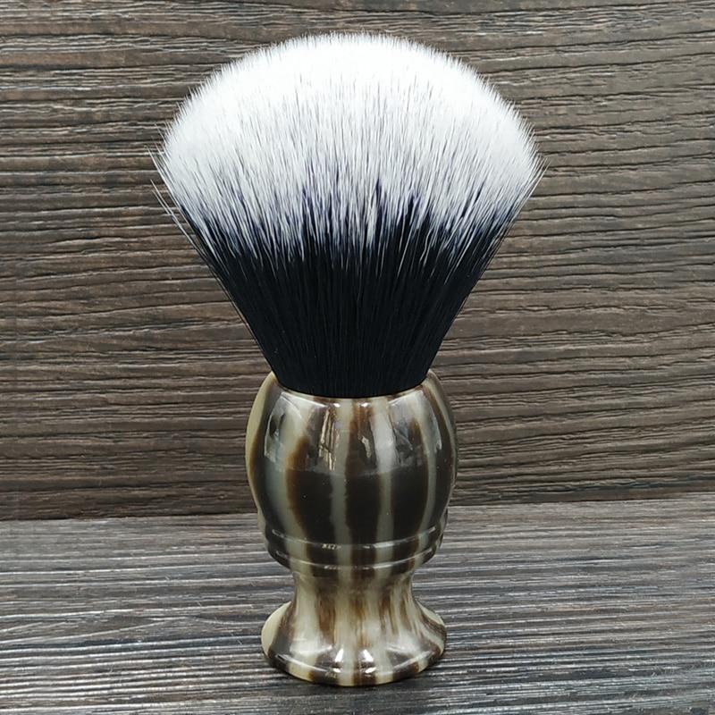 Dscosmetic 24mm Horn Resin Handle Tuxedo Knots Shaving Brush  For Man Classic Wet Shave