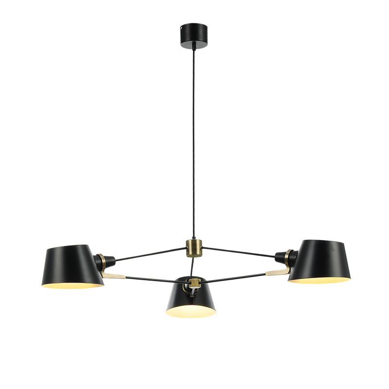 Nordic sala lustre moderno simples 3/6 PCS E27 lâmpada luzes da sala de jantar café Americano sala vestido balck criativo LEVOU lâmpada